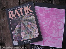 MODERN TECHNIQUES IN BATIK ART By Philip Kitley TRADITIONAL Miep Spee set of 2