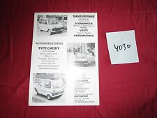 N°°4030 / prospectus voiture sans permis diesel type CADDY / Guy Duport