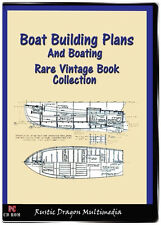 BOAT BUILDING PLANS AND BOATING 10 Vintage Books On CD Build Your Own Boat