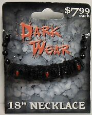 "Dark Wear Biker 18"" Necklace, Black Widow Spiders, BRAND NEW"