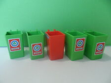 PLAYMOBIL – Lot de 5 poubelles sans couvercles / Trash can / 3470 3780