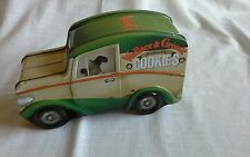 WALLACE AND GROMIT TIN ,VAN SHAPED COLLECTABLE TIN, MINI CHOC CHIP COOKIES EMPTY