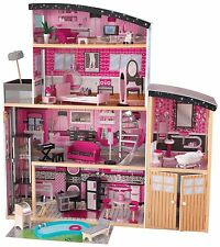 NEW KidKraft Sparkle Mansion Dollhouse Deluxe Pretend Play House Barbie Doll
