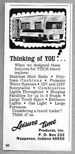 1969 Print Ad Leisure Time Travel Trailers Nappanee,IN