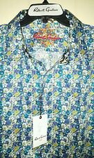 Robert Graham Abstract Floral Embroidery Flip-Cuff Button-Front Shirt: 3XL (NWT)