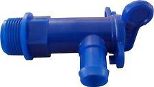 """Water Tank Drain Tap 3/4"""" BSP Fresh/Waste Fit 25mm Hose -Motorhome/Caravan/Boat"""