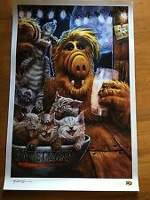 WonderCon 2016 ALF WITH CATS 3000 LIMITED EDITION 24 X 36 INCHES RARE POSTER **