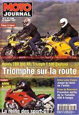 MOTO JOURNAL 1268 TRIUMPH T595 HONDA CBR 900 RR BMW K1200 RS SUZUKI 400 Inazuma