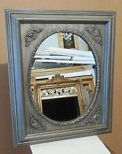 "Large Solid Wood ""17x20"" Rectangle/Oval Framed Wall Mirror"