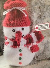 Sparkle The Snowman Toy Christmas Knitting Pattern