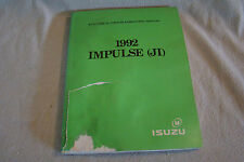 isuzu impulse 1992 isuzu impulse ji original shop electrical troubleshooting manual 451605