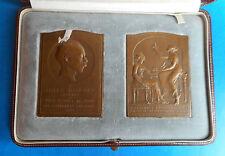 PRIX NOBEL - Jules BORDET - Science - Médecine - 1919/1921 - coffret 2 médailles