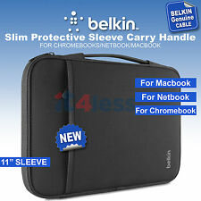 Belkin Slim Protective Sleeve 11''for Chromebooks, Netbooks,Laptops Black NEW