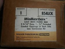 WALKERBOX 854LCK CAST IRON FLOOR BOX 2 5/16 DEEP 1-3/4 THREADED