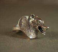 Vintage Sterling Silver 925 3D Wolf Ring size 6.25