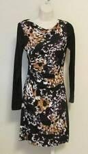 Diane von Furstenberg Kirby Cheetah Splash dress black 4 maroon gold shift knit