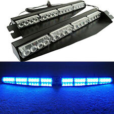 32LED Car Police Strobe Emergency Flashing Grill Warning Emergency Light Blue