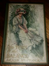 The Turn of the Balance Brand Whitlock 1907 Vintage Hardcover Book UL
