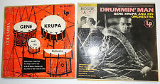 """GENE KRUPA  lot of 2 x 10"""" LPs DRUMMIN MAN & AND HIS ORCHESTRA   T"""