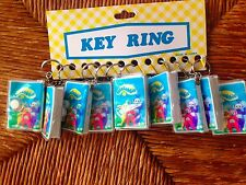 Set Of 10  Vintage 1990's Teletubbies Plastic Keychains New In Packages