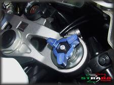 Strada 7 Racing 17mm Fork Pre-load Adjusters Kawasaki ZX6R / ZX636R / ZX6RR Blue