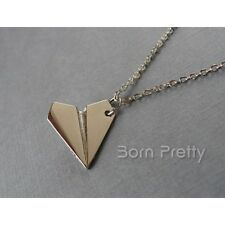 Paper Airplane Design Chain Necklace Chain Sweater Necklace Jewelry
