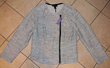 NEW Womens Lane Bryant tweed jacket coat metallic sweater SLIMMING 26 26W 3X 4X