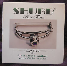 Shubb Capo F3 Finetune Fine Tune for wide necked steel string guitars new in box