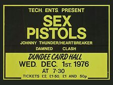 "Sex Pistols / Clash Dundee 16"" x 12"" Photo Repro Concert Poster"