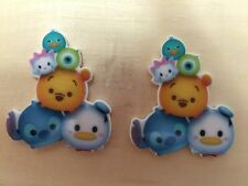 Disney Tsum Tsum Inspired Planar Resin-Cabochon-Plastic-Bow Center-stich