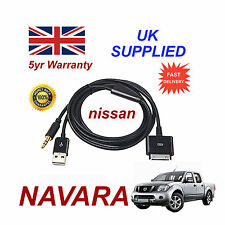 Para Nissan NAVARA iPhone iPod USB & Cable Aux recambio (Negro)