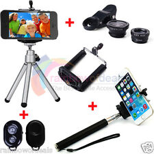 4 in1 Bluetooth +Selfie Stick Monopod + Tripod +Camera Lens For iPhone 5S 6 Plus