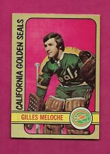 1972-73 OPC  #  112 SEALS GILLES MELOCHE GOALIE  ROOKIE EX+ CARD (INV# 7846)