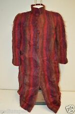WOW Vintage Unique Deep Reds Purple MOD Mohair Fluffy Hairy Jacket Rare