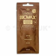 L'Biotica Biovax Argan Natural Oils Mask 20ml (pack of 2)