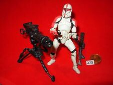 "Star Wars 2002 CLONE TROOPER Attack of the Clones w/Tripod Cannon 3.75"" figure"