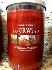 Yankee Candle 'CALIFORNIA REDWOOD' World Journeys 20 oz 2 wick Candle 2013 HTF