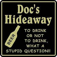 New Personalized Custom Name To Drink Hideaway Bar Beer Pub Gift Sign #34