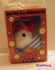 NEW HELLO KITTY MCDONALD THAILAND PROMO OSARU NO MONKICHI BUBBLY Plush DOLL 6""