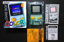 CONSOLE NINTENDO GAME BOY COLOR TSUTAYA Water Blue JAPAN Very.Good.Condition