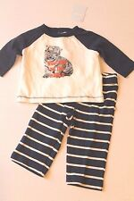 Gymboree Infant Boy 3-6 Months Tiger Welcome To The World Top & Pants Outfit NEW