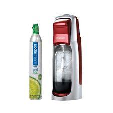 Sodastream jet compact rouge home carbonatation normale avec gaz 60L cyliner