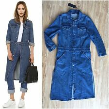 BNWT Helmut Lang Medium Worn Denim Trench Coat! Size SMALL! SUPER HOT ITEM!