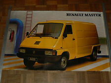 Affiche Ancienne RENAULT MASTER jaune fourgon truk poster