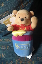 "WINNIE THE POOH SLAMMER DISNEY STORE 7"" SOFT TOY BEANIE TAGS BIRTHDAY GIFT"