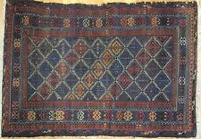 Beautiful Baluch - 1910s Antique Persian Carpet - Tribal Oriental Rug 3.9 x 5.3