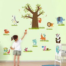 Kid'S ZOO Wall Stickers Motif Animal décoration Art Decal Papier