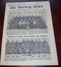 The hockey news vol 11 no.31 May 1958 Montreal /  Hershey / All Star Teams