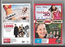 4 x movies on 3 DVDS, Suddenly 30, Catch & Release, The Quest, The Long Weekend