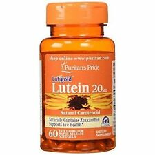Puritan's Pride Lutein 20 mg with Zeaxanthin  20 mg / 60 Softgels BEST VALUE